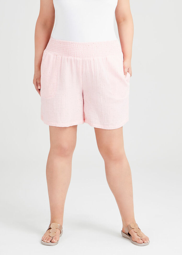 Cotton Spot Foil Short, , hi-res