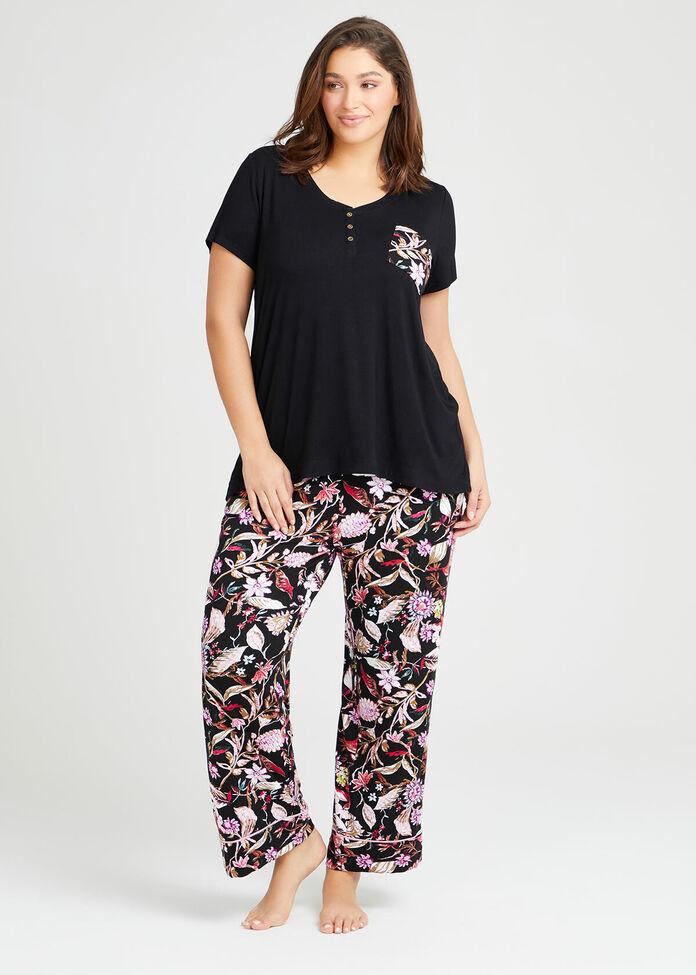 Bamboo Botanica Pyjama Top, , hi-res