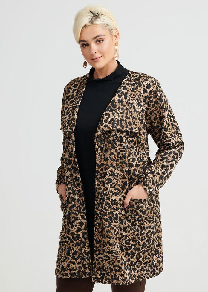 Leopard Cardi, , hi-res