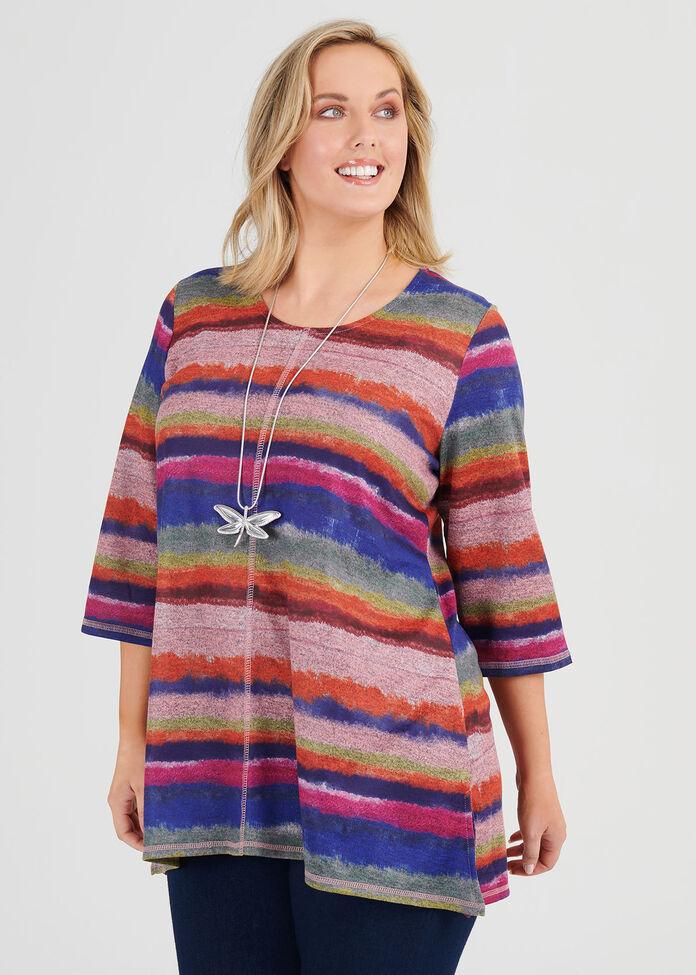 Cosy Stripe Top, , hi-res