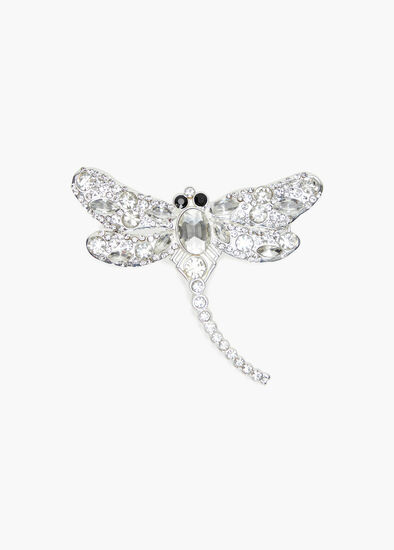 Diamond Dragonfly Brooch