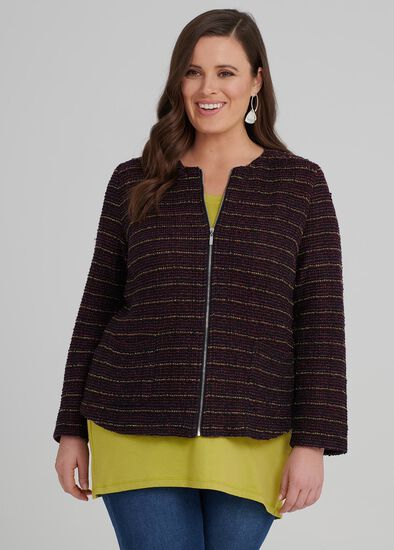 Eclectic Boucle Cardigan