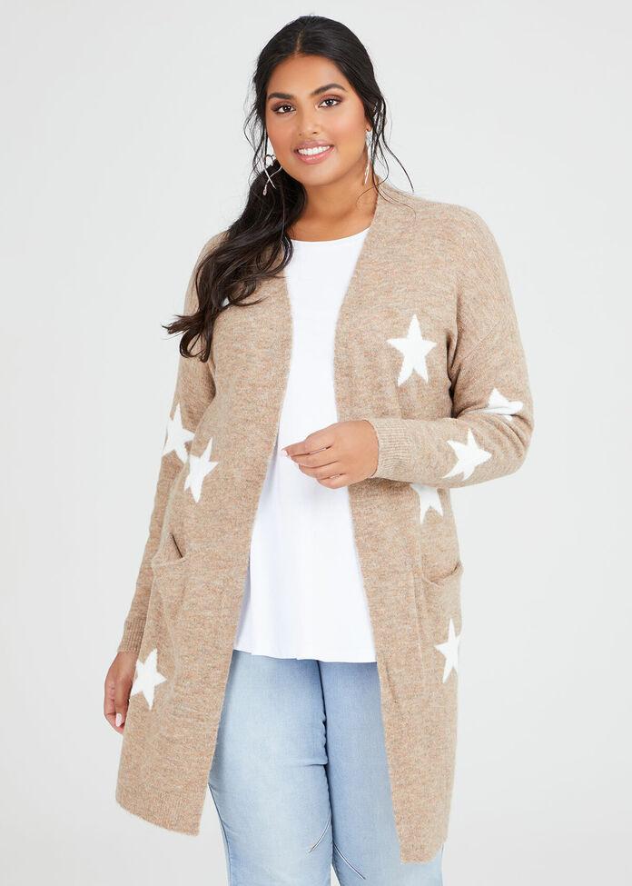 Cosy Star Knit Cardi, , hi-res