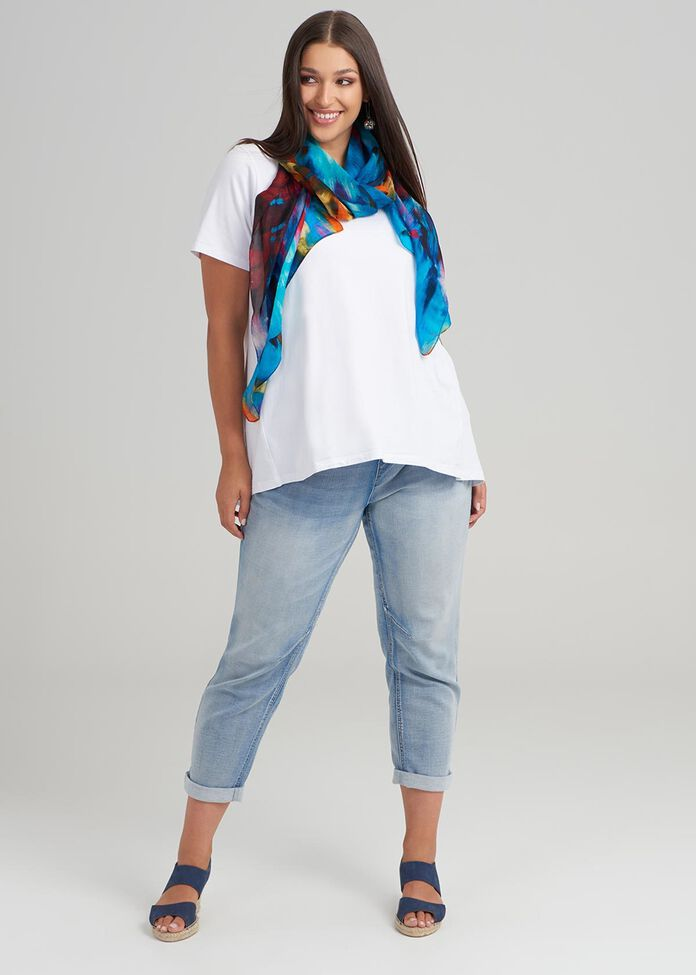 Outside Lines Silk Scarf, , hi-res
