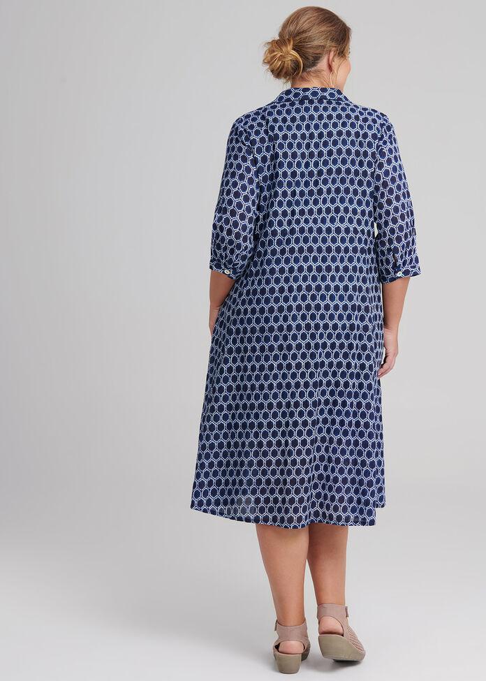 Shibori Cotton Dress, , hi-res