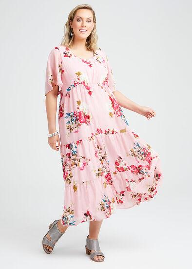 Wild Rose Tier Maxi Dress