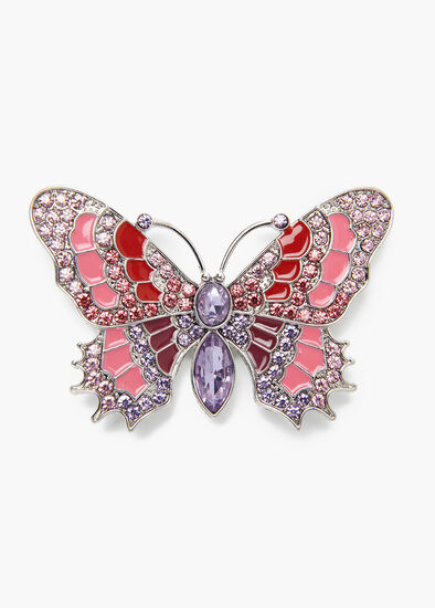 Blushing Butterfly Brooch