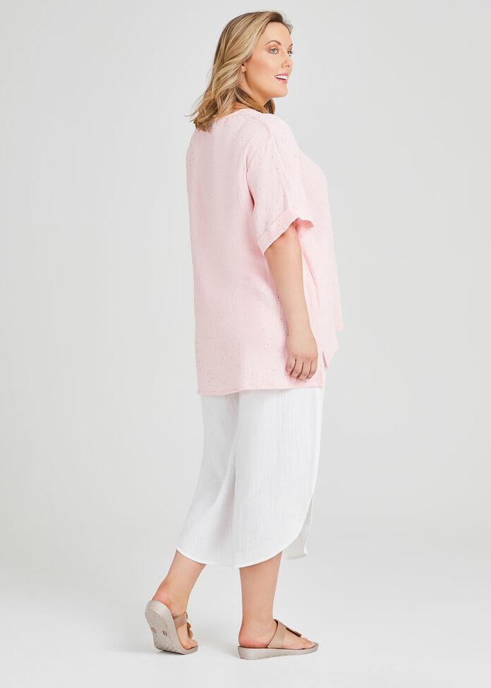 Cotton Spot Foil Top, , hi-res