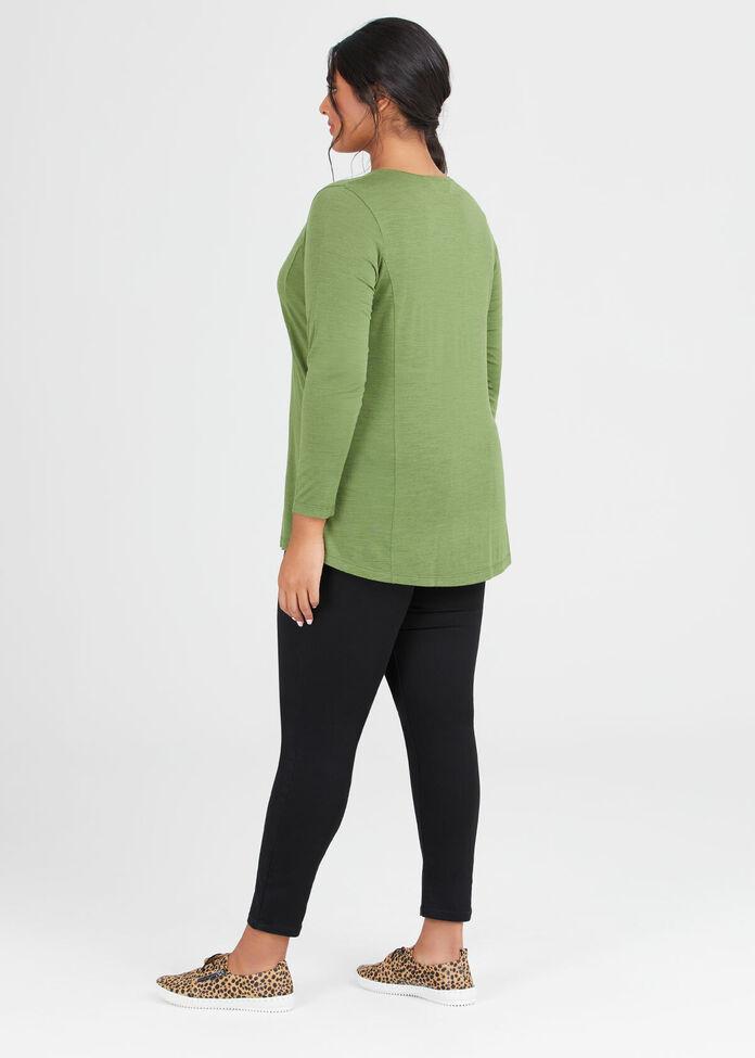 Wool Bamboo V Neck Top, , hi-res
