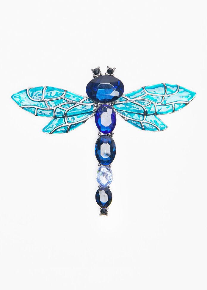 Gem Dragonfly Brooch, , hi-res