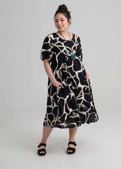 Petite Abstract Dress