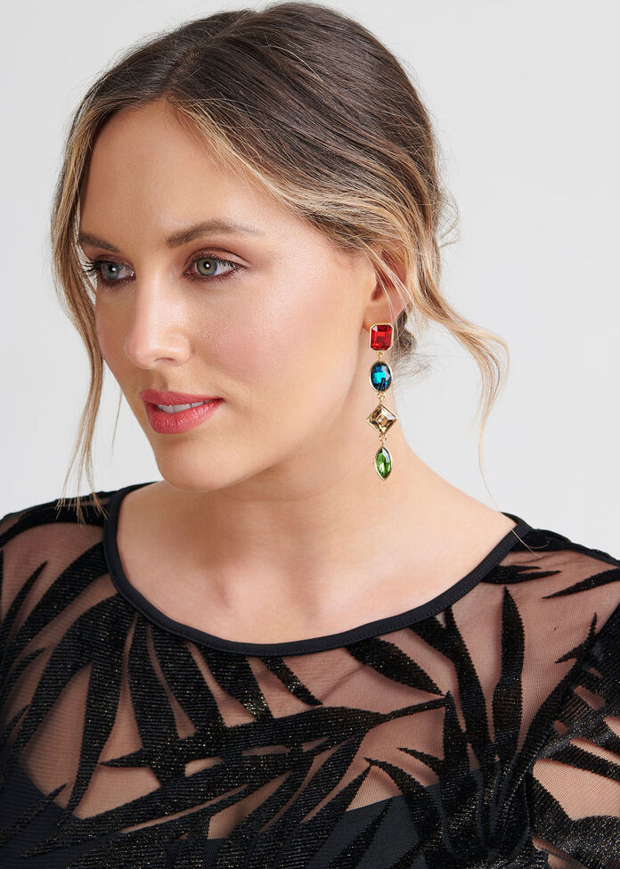 Bright Jewel Earrings, , hi-res