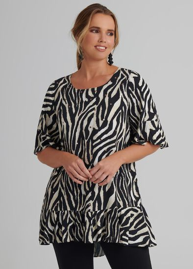 Zebra Sparkle Tunic