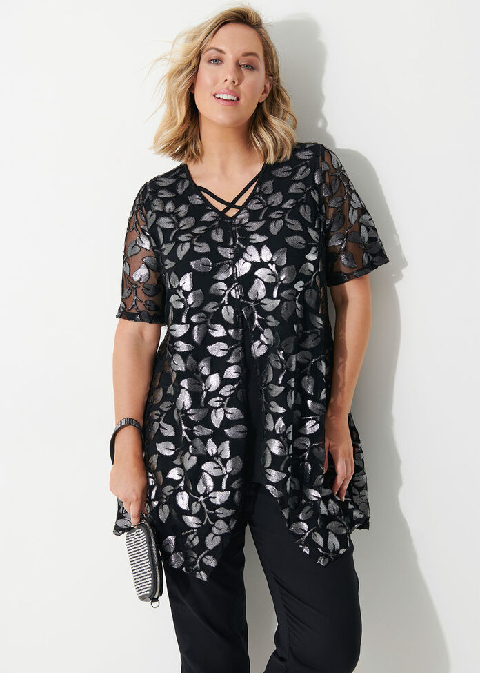 Jazzy Short Sleeve Tunic, , hi-res