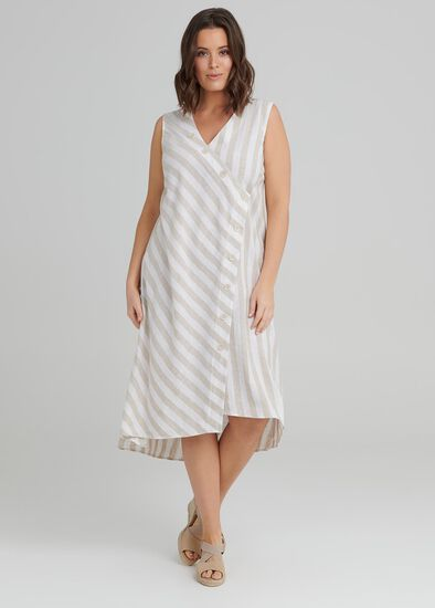 Santo Stripe Linen Dress