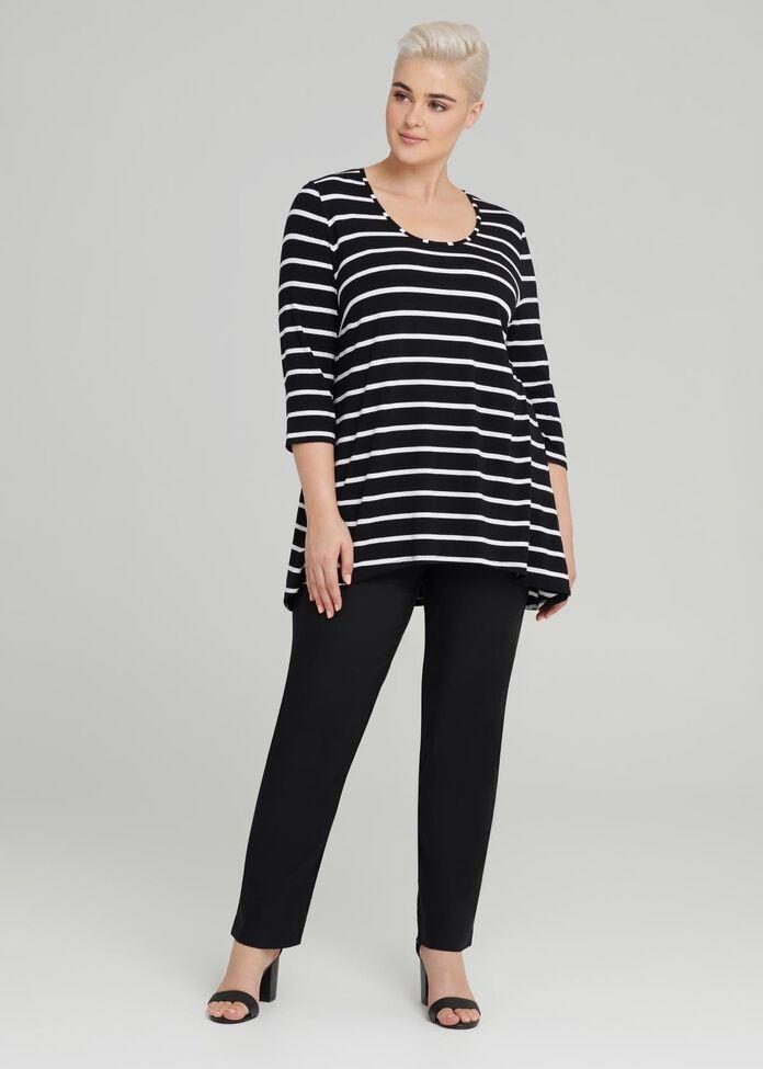 Cora Linear 3/4 Sleeve Top, , hi-res