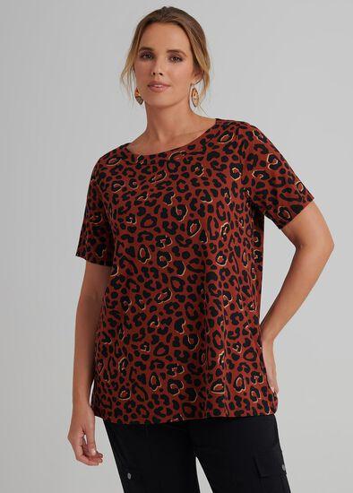 Foil Leopard Top