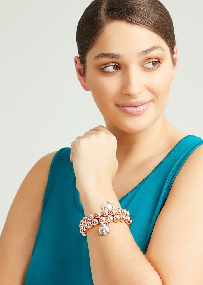 Rose Gold Bracelet Stack, , hi-res