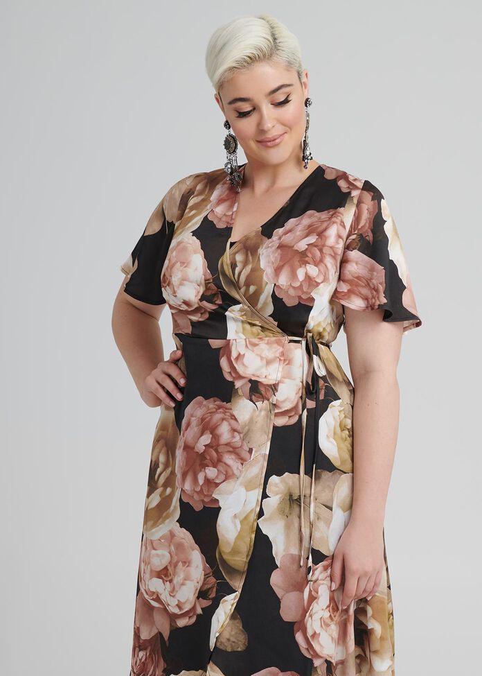My Fair Lady Wrap Dress, , hi-res
