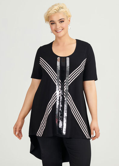Bejewelled Viscose Tunic