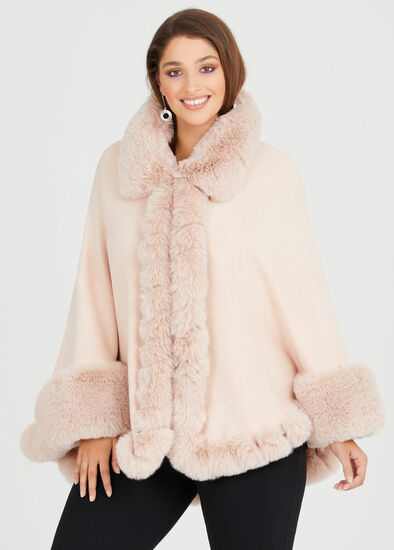 Blush Fur Cape