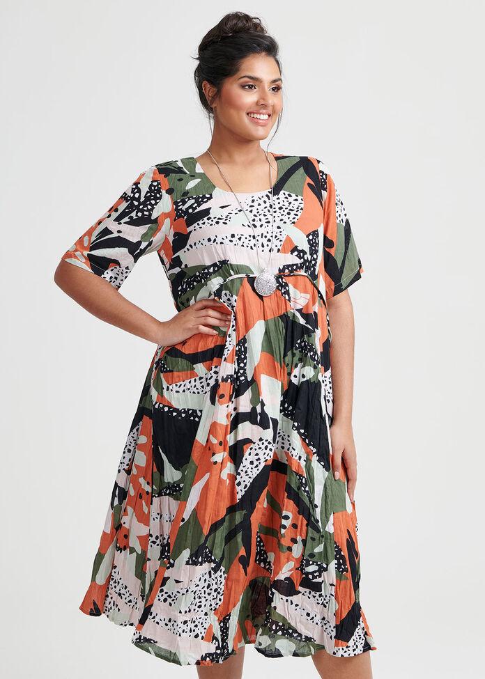 Cotton Jungle Mix Dress, , hi-res