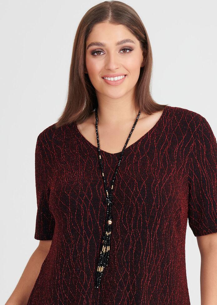 Shimmer Tassel Necklace, , hi-res