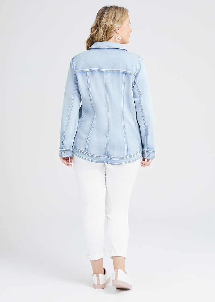 The Best Fit Denim Jacket, , hi-res