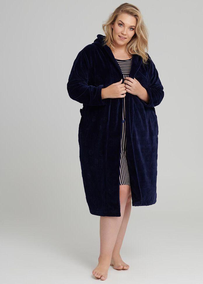 Spot Dressing Gown, , hi-res