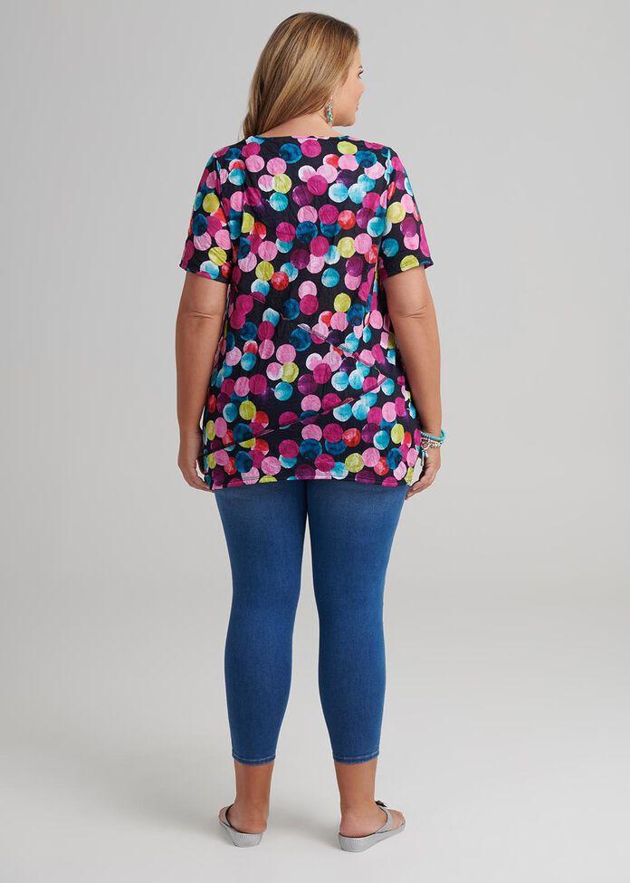 Multicoloured Spot Top, , hi-res