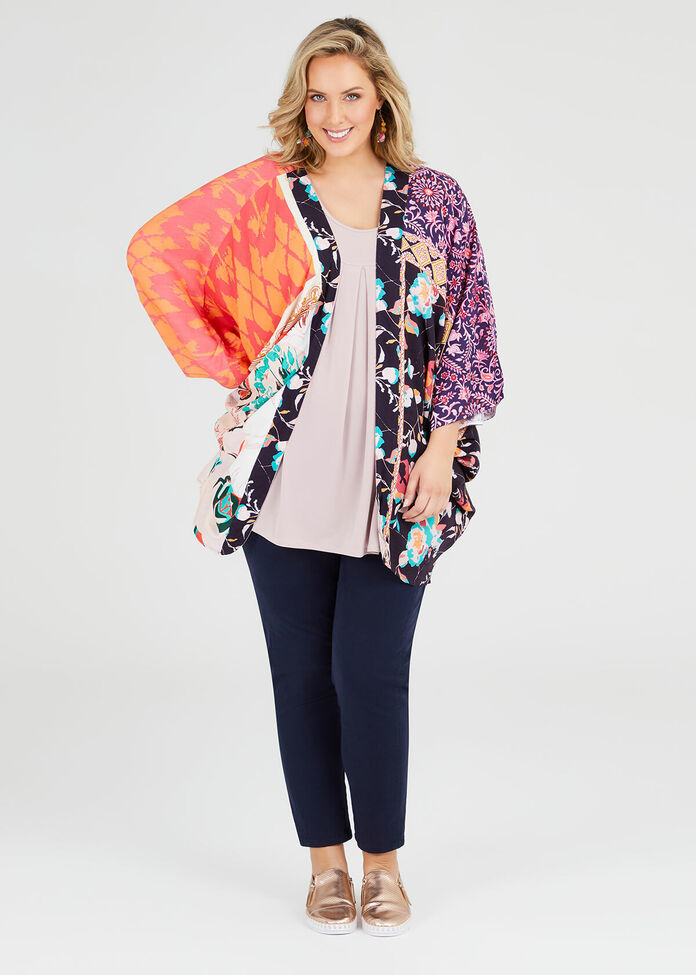 Floral Splice Shrug, , hi-res