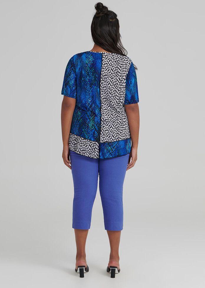 Blue Mosaic Top, , hi-res