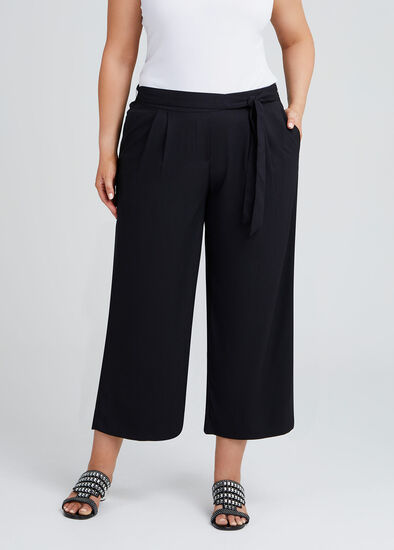 Noir Pull On Culotte Pant