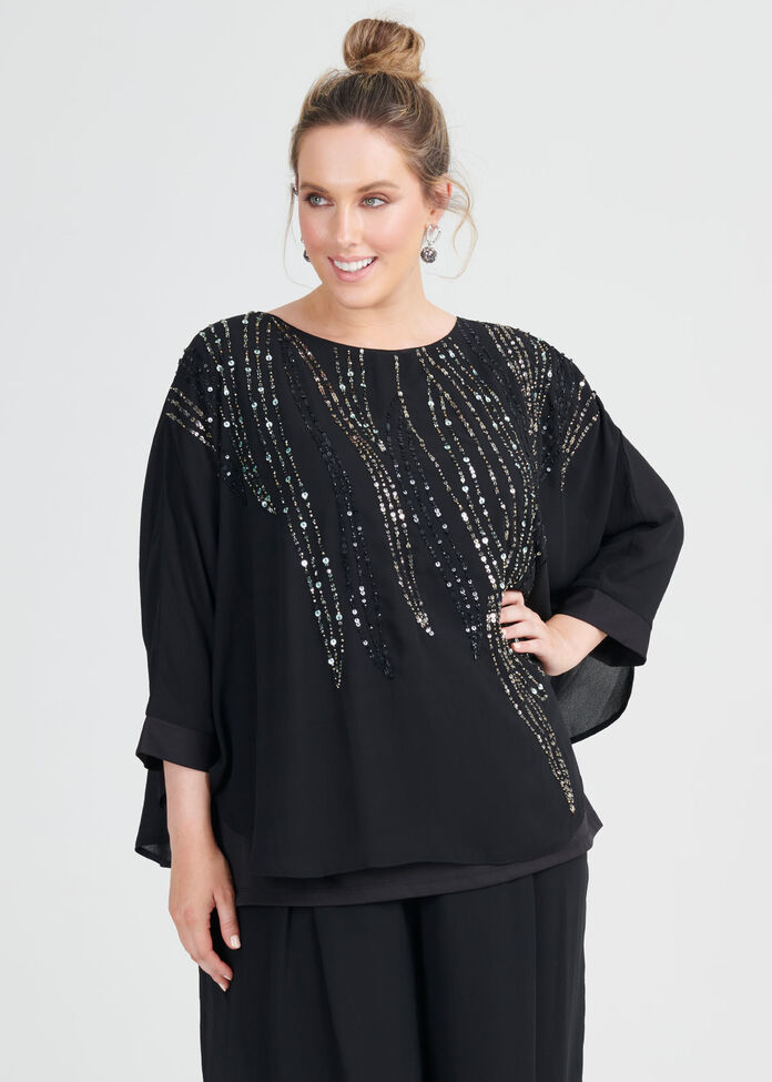 Mia Beaded Top, , hi-res