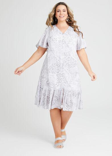 Natural Treasures Button Dress