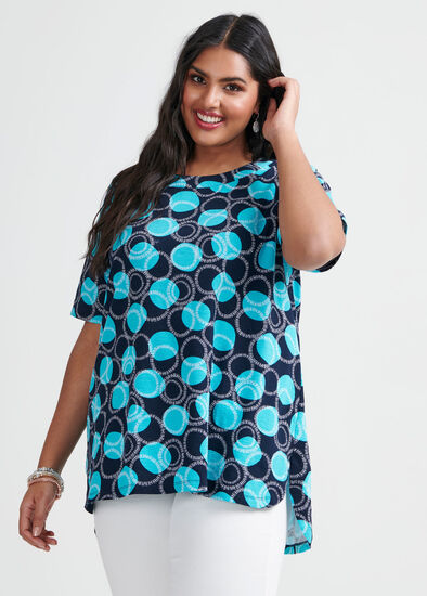 Cotton Graphic Circles Top