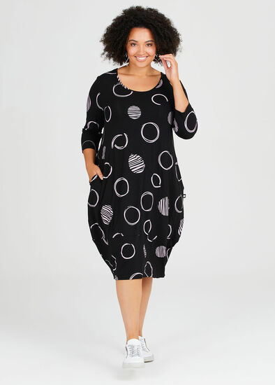 On The Move Natural Spot Dress