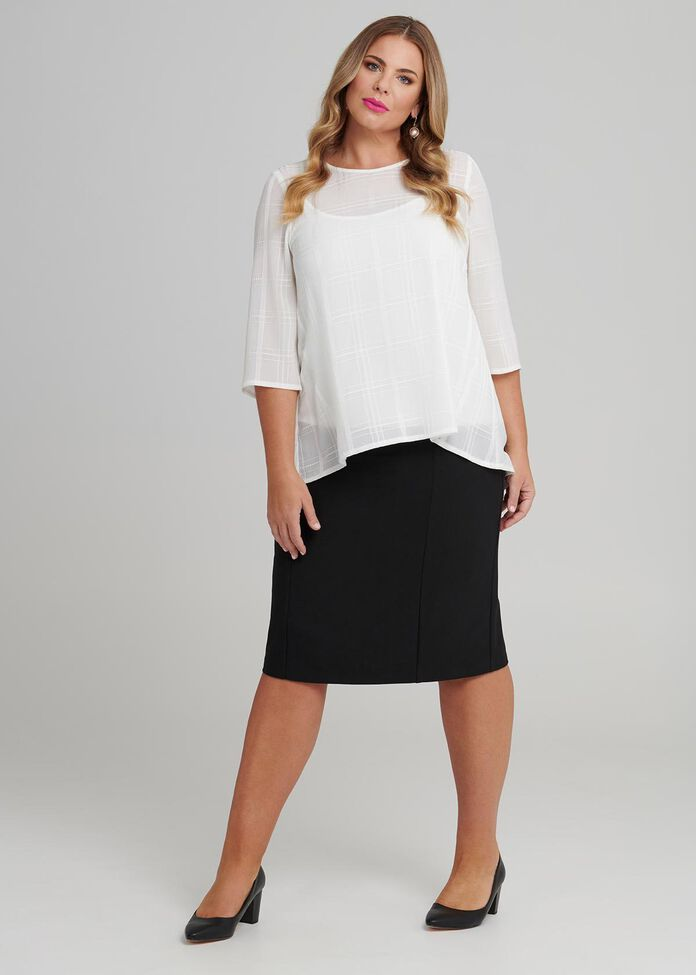 Working Girl Check Top, , hi-res