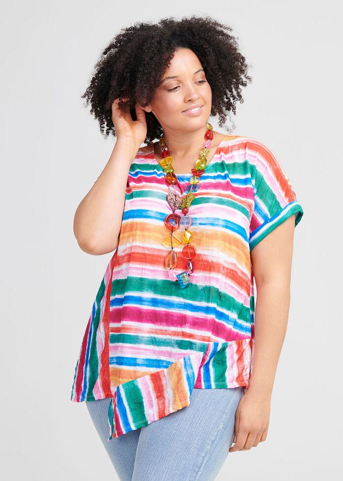 Tropical Stripe Top, , hi-res