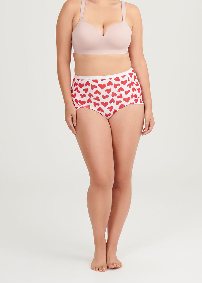 2Pk Bamboo Heart Briefs, , hi-res