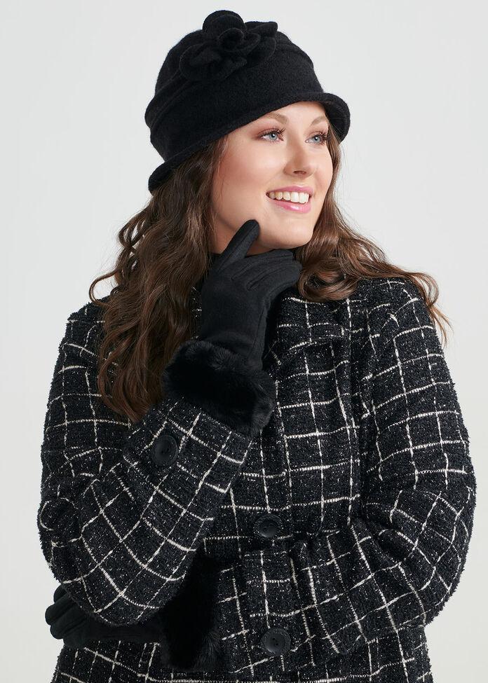 Faux Fur Gloves, , hi-res