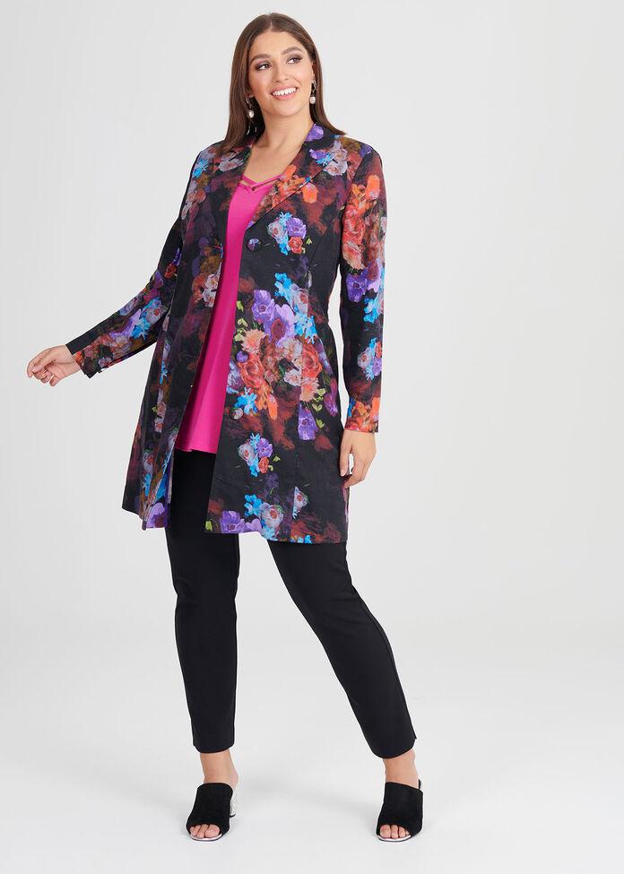 Rose Garden Linen Jacket, , hi-res