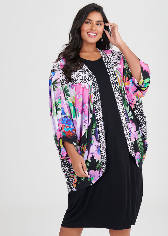 Flash Of Floral Shrug, , hi-res