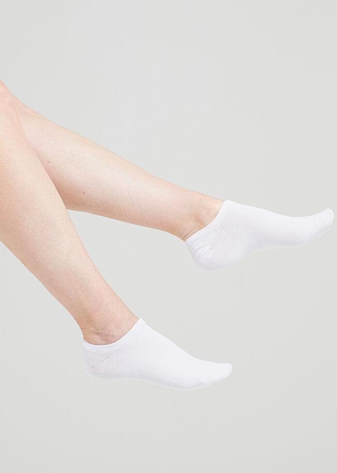 Set/3 White Bamboo Socks, , hi-res