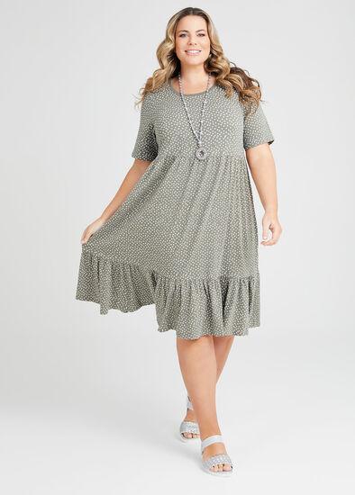 Organic Mini Spot Tiered Dress