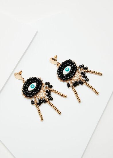 Eye Leaf Earrings