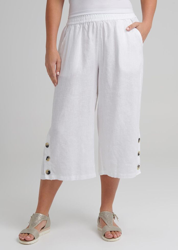 Linen Breeze Crop Pant, , hi-res