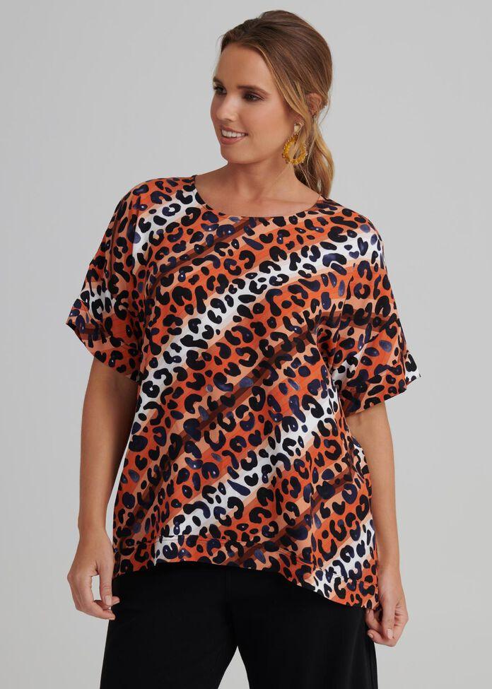 Painted Leopard Top, , hi-res