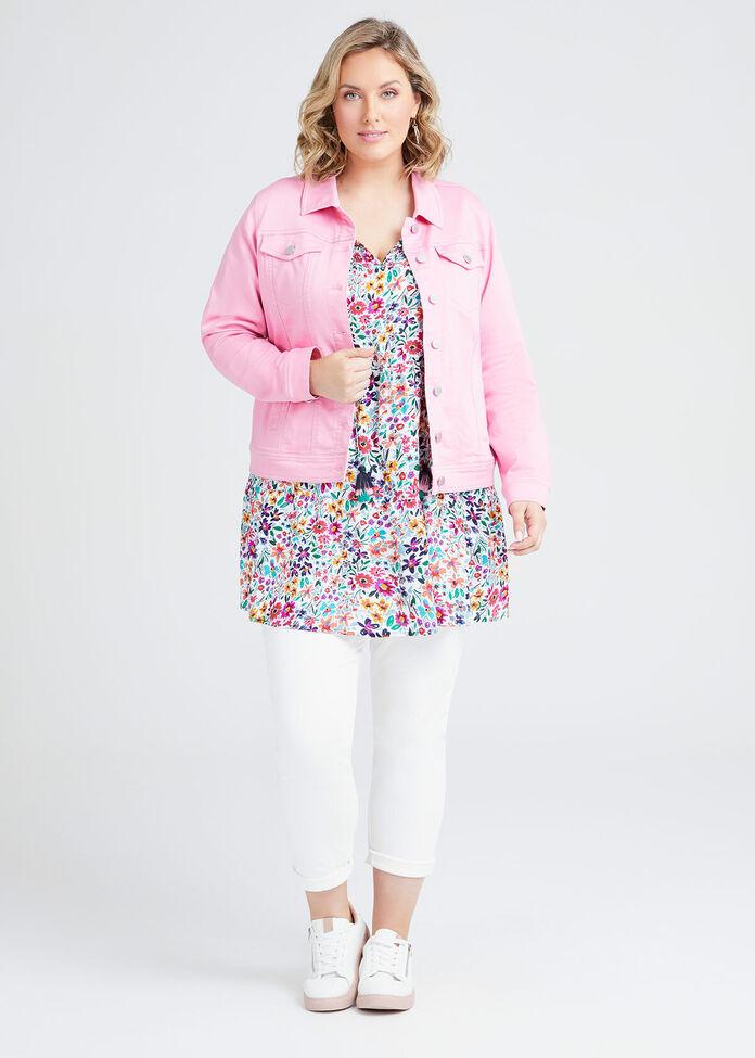 Coloured Classic Denim Jacket, , hi-res