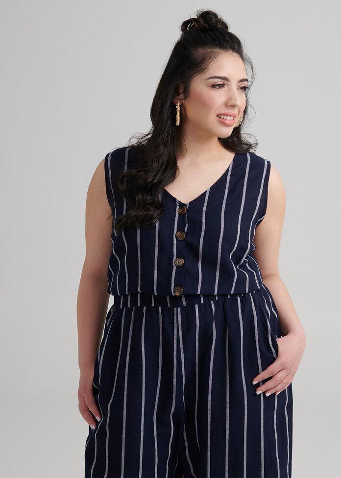 Petite Linen Jumpsuit, , hi-res